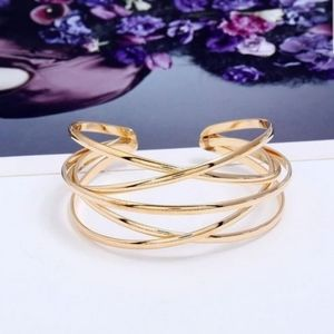 Jewelry - Gold cuff bracelet - Adjustable